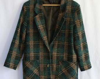 Green Pattern Coat