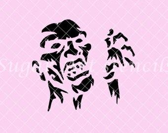 The Walking Dead zombie Stencil Nb1636