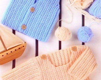 Baby Boy / Toddlers Sweater And Waistcoat, Easy & Quick Knit, Knitting Pattern. PDF Instant Download.