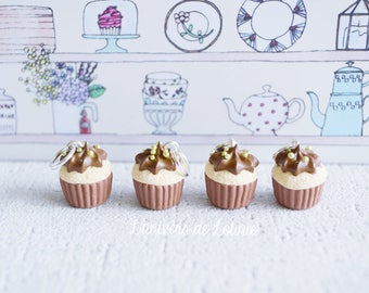 4 stitch markers knitting Choco Cupcake