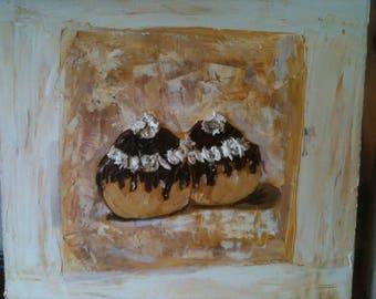 Chocolate religious painting