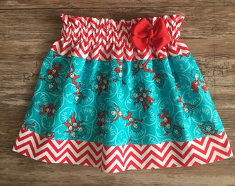 Thing One Skirt, Thing Two Skirt, Thing One and Thing Two skirt, Dr. Seuss Thing One and Thing Two Skirt