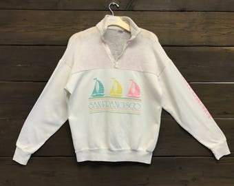 Vintage 80s Super Thin and Sheer San Francisco Sweatshirt