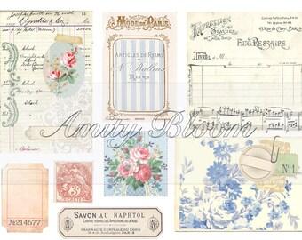 Trésors de papier | Vintage Digital Ephemera Kit |