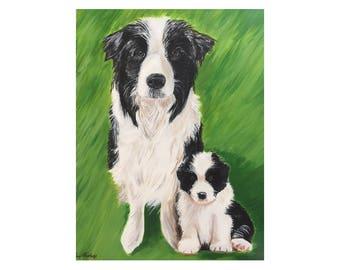 Custom Pet Art, Custom Pet Portrait, Dog Lover Gift, Pet Canvas Art, Dog Portrait, Dog Art, Pet Loss Gift