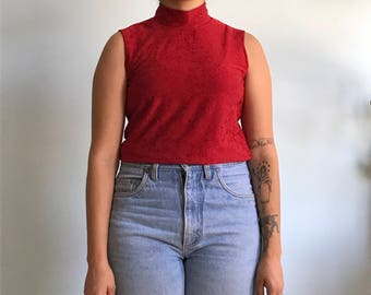 Vintage sz S/M turtle neck sleeveless top