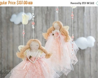 ON SALE Baby Mobile, Baby Mobile With Fairies, Baby Mobile Hanging, Baby Mobile Girl, Baby Room, Baby Mobile Hanger, Nursery Decor, Home Dec
