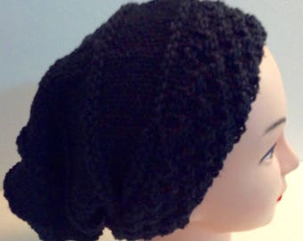 Slouchy beanie, Black slouchy, Knit Cotton Slouchy, Cotton slouchy, Gift for Her, Gift for Him, Women's Hats, Men's Hats, Men's Slouchy,