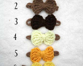 Crochet Hair Bow (Small Size)