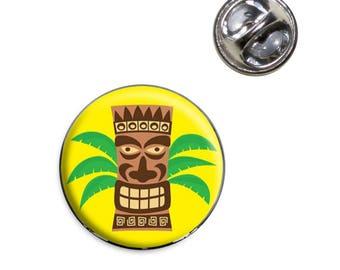 Tropical Tiki Head Lapel Hat Tie Pin Tack