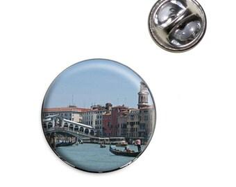 Rialto Bridge Venice Italy Lapel Hat Tie Pin Tack