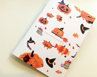 Happy Halloween journaling, travelers notebook insert ,TN personal, Foxy notebook, Pocket, Standard, Passport, Diary, A5, A6, B6, Midori,
