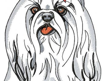 Machine Embroidery Design - Dog york Embroidery Dog 5*7, 6*8, 8*10