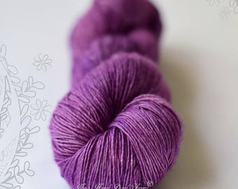 SILK MELODY - Bishop - hand dyed, extra fine merino and mulberry silk yarn, for knitting or crochet, singles