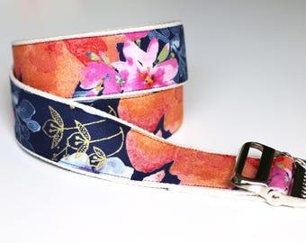 "High Quality Custom Gait Belt and Badge Reel ""The Flora"""