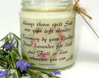 Practical Magic Quote design, Scented Jar Candle, gift, Christmas, Witchcraft, Witch, Wicca, Birthday, Holidays, Book Candle, Film Candle