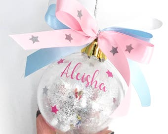 Unicorn Christmas Bauble, Personalised Unicorn Decoration, Unicorn Birthday Gift, Unicorn Ornament, Unicorn Gift, Gift For Daughter