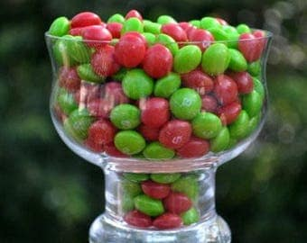 Christmas Skittles! Red strawberry and green apple, 1 pound