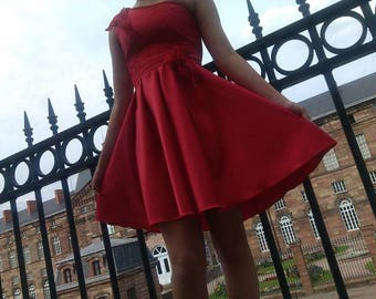 The red dress for special occasion, for girls