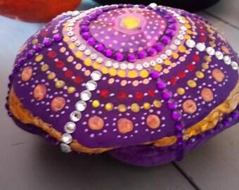 stone is transparent purple rhinestone