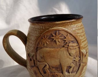 Taurus Pottery Mug