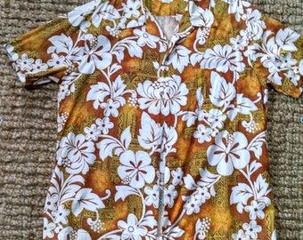 Men's Vintage  Floral Print Hawaiian Shirt