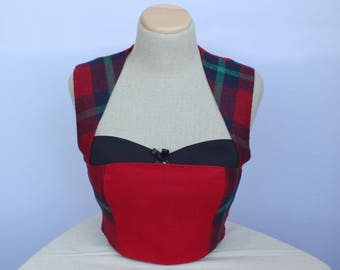 Women's vest, Wool vest,Celtic vest, Steampunk vest, Dirndl mieder, Rustic vest, Folk Waistcoat, Folk Vest Medieval  clothing