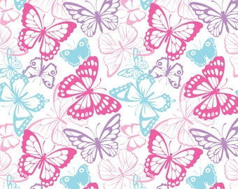 Stretchy Butterfly Cotton Knit fabric