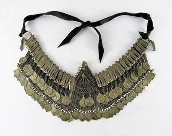 Antique Kuchi necklace - Afghan jewelry - Tribal jewelry