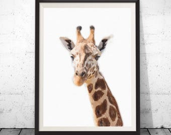 Giraffe Print, Giraffe photo, Giraffe Wall Art, Kids Room Decor, Nursery Animal Print,Safari Nursery Art,Nursery Printable,Modern baby room