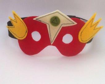 Kids costume accessory - red and yellow - mask superhero Wonder
