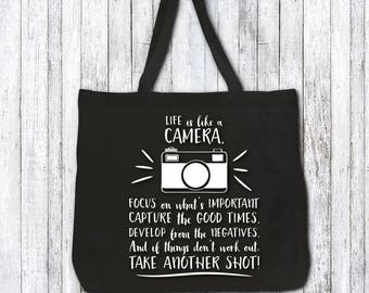 Tote bag - photographer gift idea - photographer present - photographer tote bag - photographer birthday