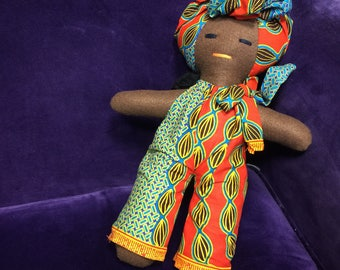 African Doll - African Toys - Multicultural Doll - Black Doll - Handmade Toy - Cultural Toys - Gift For Kids - Stocking Filler