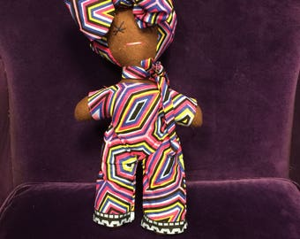 African Doll - African Toys - Multicultural Doll - Black Doll - Handmade Toy - Cultural Toys - African Orniment - Stocking Filler