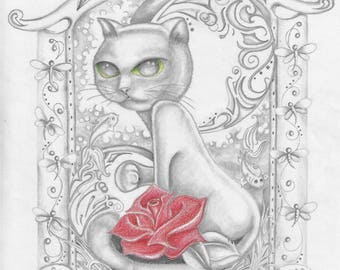 Rose and Cat