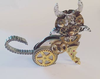 Cat - made from watch parts no LW37
