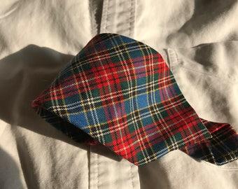 Wool Plaid Necktie made in Scotland