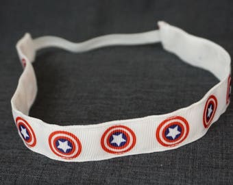 Captain America Inspired Non-slip Headband - Shield, Marvel Comics