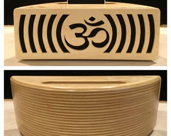 Om symbol Acoustic speaker Phone amplifier iPhone amplifier iPhone speaker Wooden speaker Charging station iPhone dock Docking station Yoga