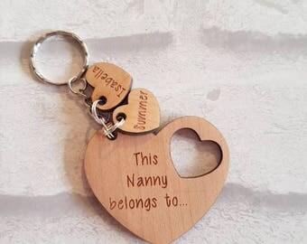 Personalised keyring, Mothers day, mummy keyring, nanny keyring, personalised keyring, children keyring