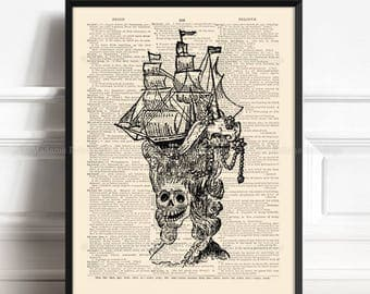Marie Antoinette, French Skull, Death Poster, Rococo Wig, Let Them Eat Cake, Girl Gift Poster 128