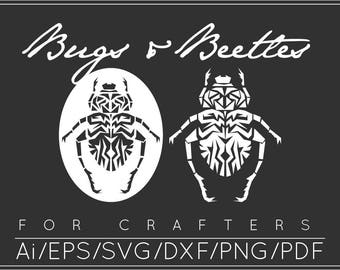 Beetle SVG, Beetle DXF, Beetle Cut File,Beetle Clipart, Beetle Clip art, Creepy Crawly Clip Art, Insect SVG, Cut Files, Instant Download