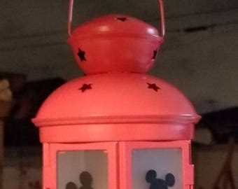 Small Handcrafted Mickey Lanterns with electronic candle