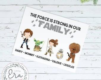 Personalised Family Star Wars Print || Wall Art || Nursery Print