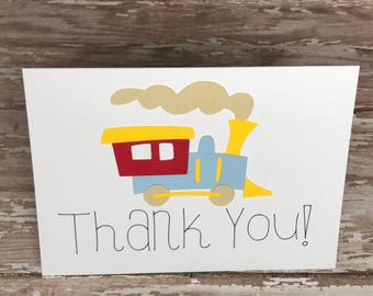 Cars Trucks Trains Planes Thank You  - First Birthday - Boy Birthday - Transportation Thank You - Automobile - On The Move - Vehicle Party