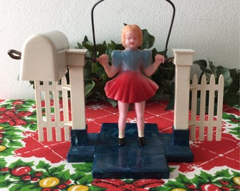 1950's Mechanical Girl Jumping Rope Toy