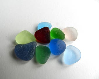 Small Bright Sea Glass Pieces for Rings