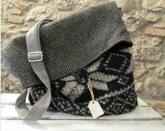 Winter fabric shoulder bag