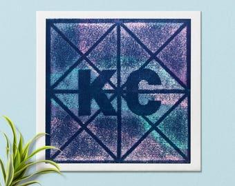Kansas City Art Print | KC | Missouri |Kansas | Kansas City Art | Wall Art |Made in Kansas City | Kansas City print | Home Decor | KCMO