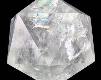 1345 ct Icosahedron D20 Clear Quartz Crystal Sacred Geometry Platonic Solids 300